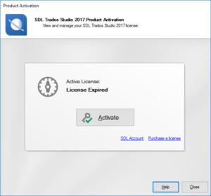 Trados 2017 License expired